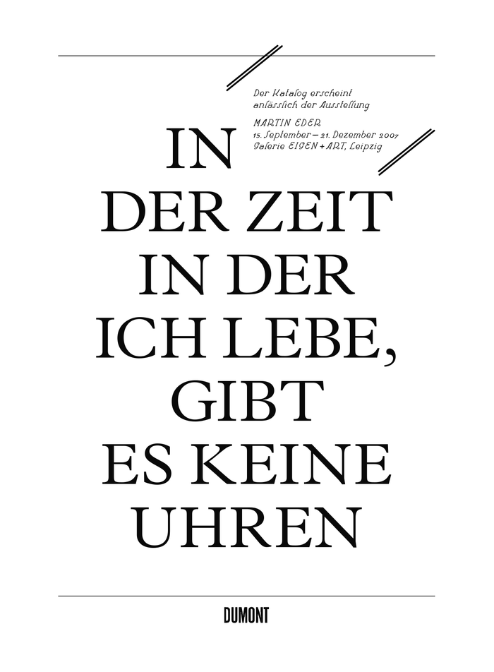 The interview in German is set in narrow columns of Optima. Questions are underlined, answers have a large first-line indent.