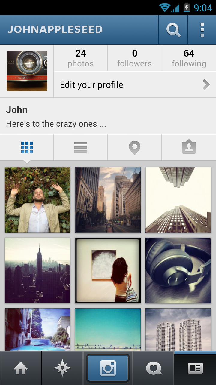 Instagram app and website (2012) - Fonts In Use