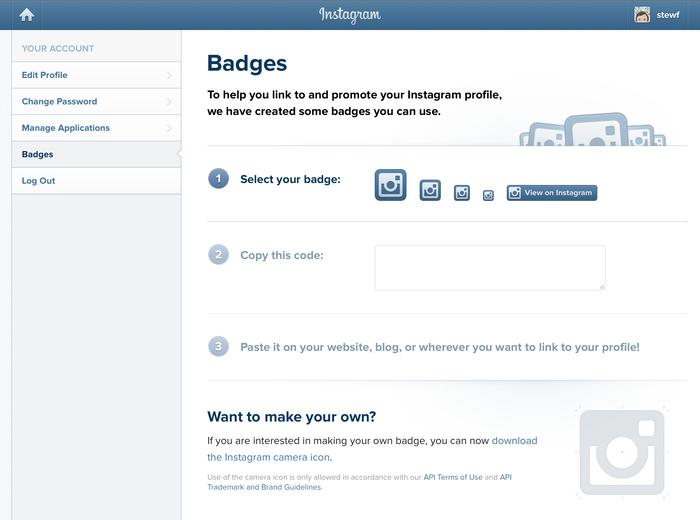 Instagram app and website (2012) 8