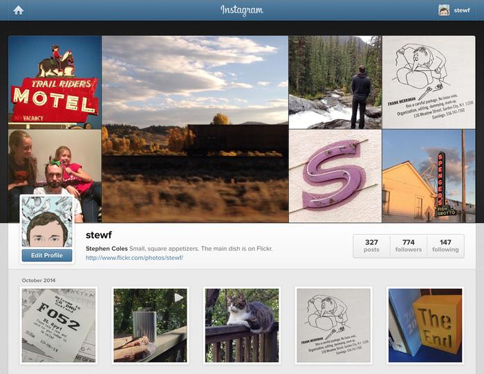 Instagram.com: web/desktop view.
