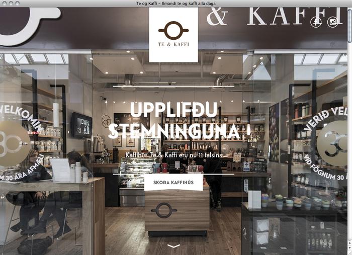 Te & Kaffi website 1