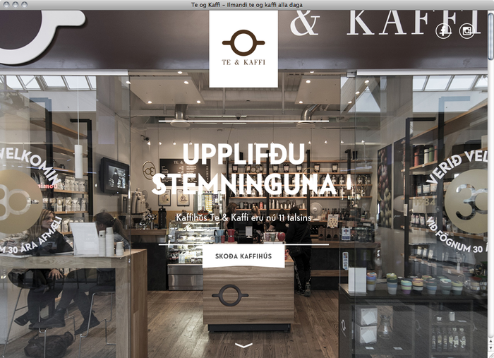 Te & Kaffi website 1
