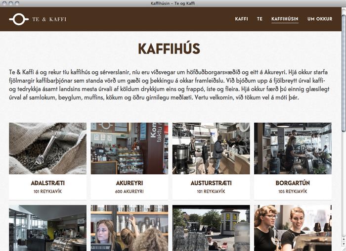 Te & Kaffi website 3