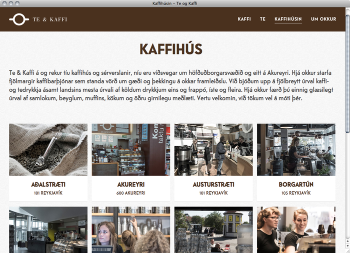 Te & Kaffi website 3