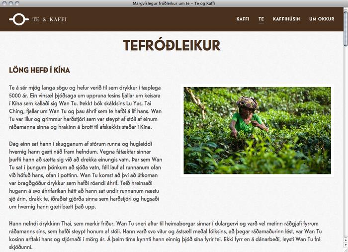 Te & Kaffi website 4