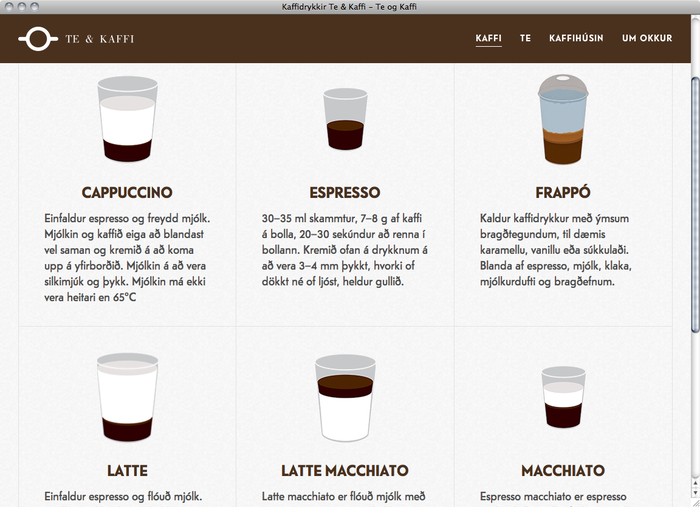 Te & Kaffi website 5