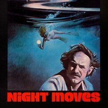 <cite>Night Moves</cite> movie poster and promotional artifacts (1975–2005)