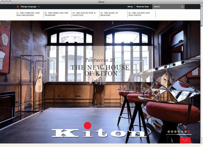 Kiton website 1