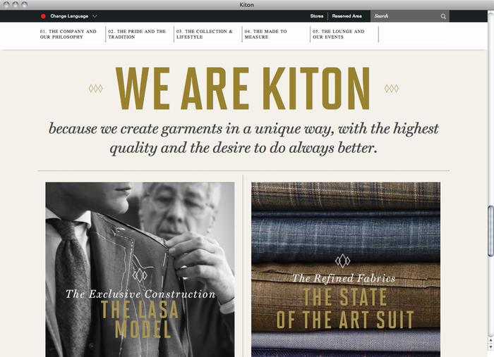 Kiton website 2