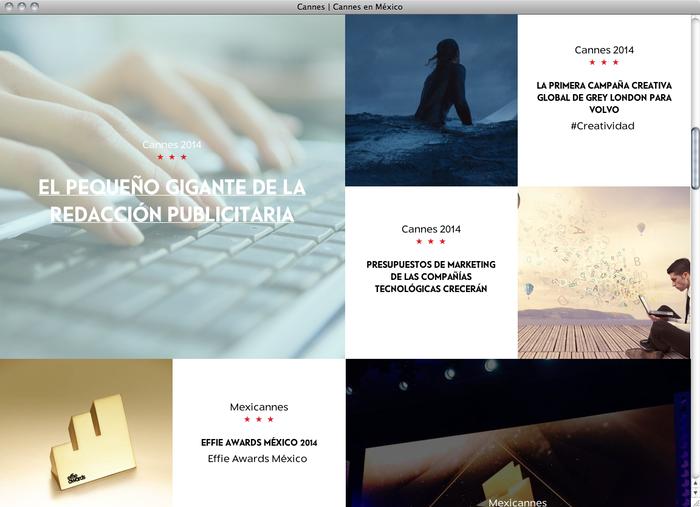 Cannes en México website 2