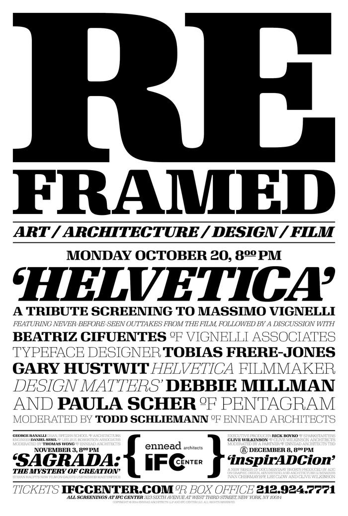 Reframed poster