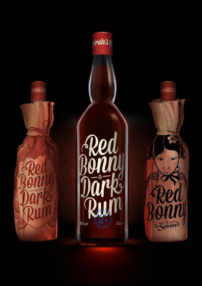 Red Bonny Dark Rum 1