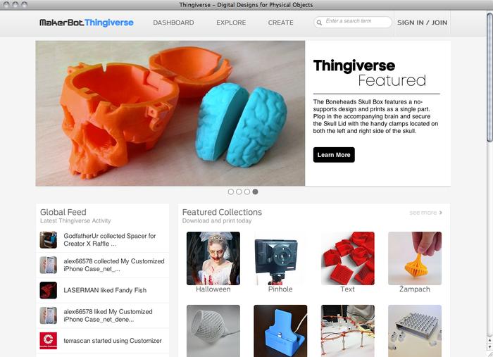 Thingiverse website 1