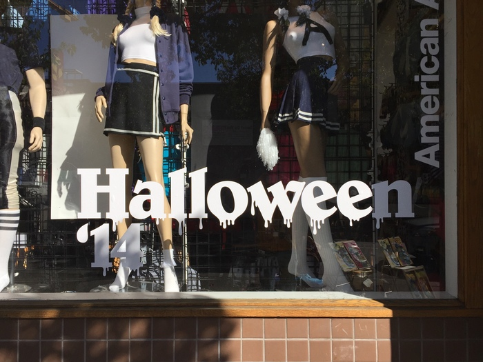 American Apparel: Halloween window display