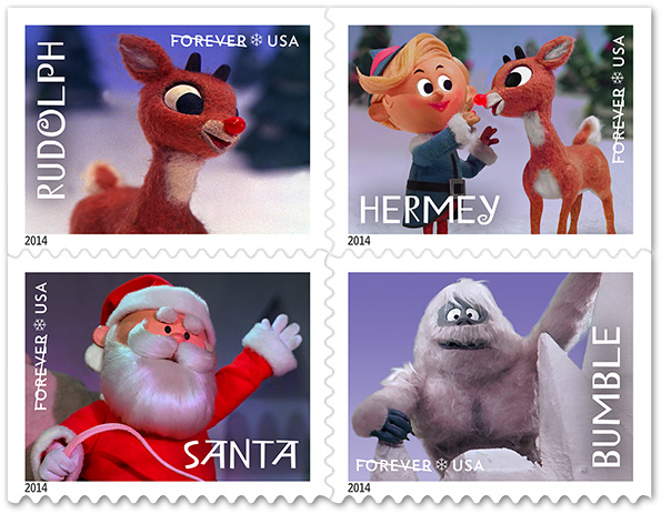 Rudolph the Red-Nosed Reindeer postage stamps 1