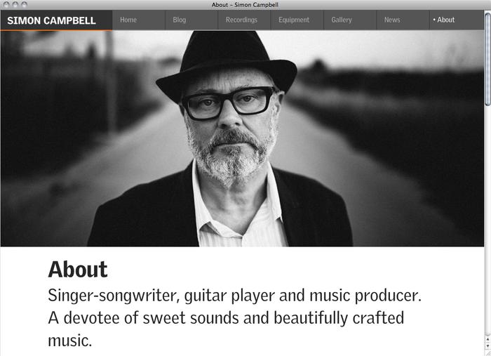 Simon Campbell website 5