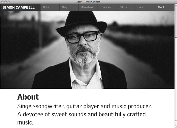 Simon Campbell website 5