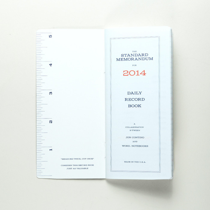 Standard Memorandum Notebook 3