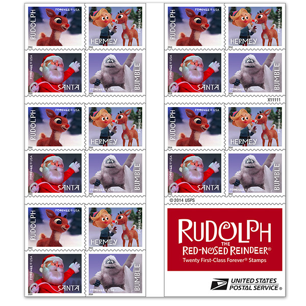 Rudolph the Red-Nosed Reindeer postage stamps 3