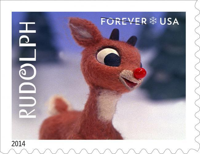 Rudolph the Red-Nosed Reindeer postage stamps 5