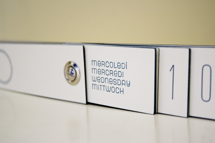 Letterpress perpetual calendar 6