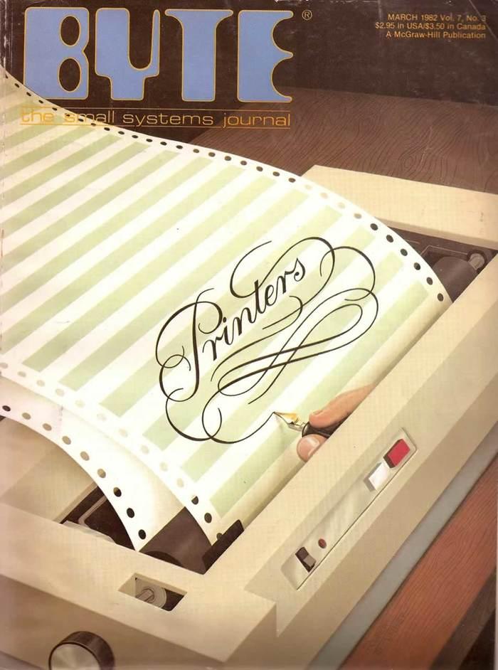 Byte Magazine covers, 1976–84 8