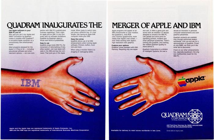 Quadram for Quadlink, an Apple emulator for IBMPCs