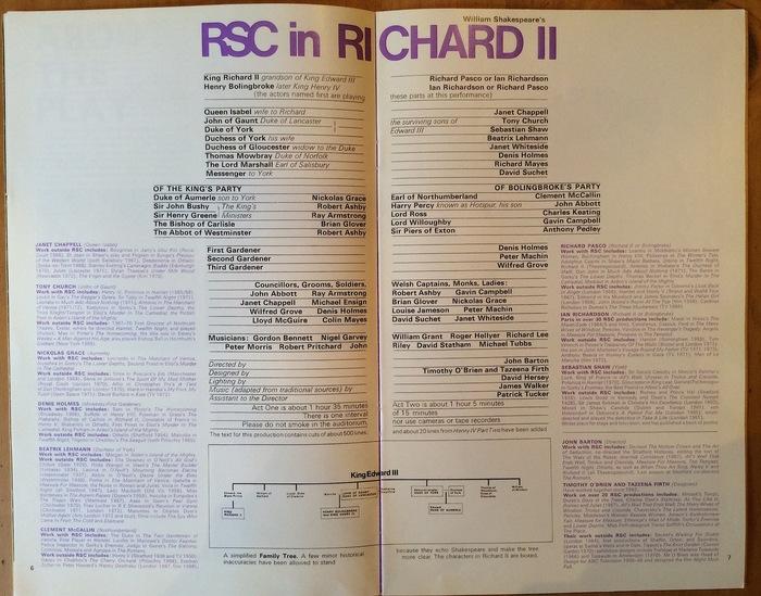 Royal Shakespeare Company programme 2
