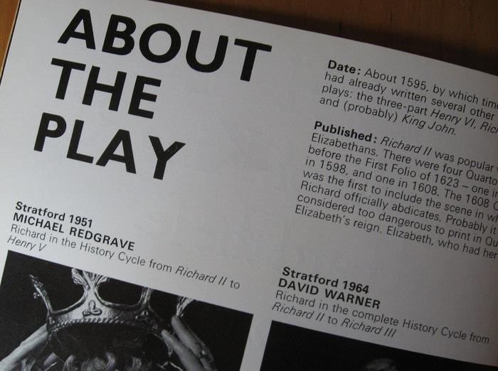 Royal Shakespeare Company programme 5
