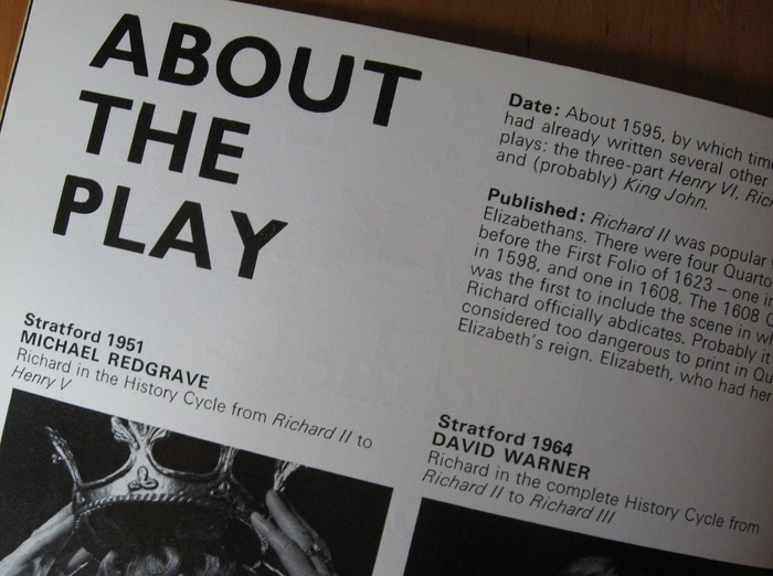 Royal Shakespeare Company programme 5