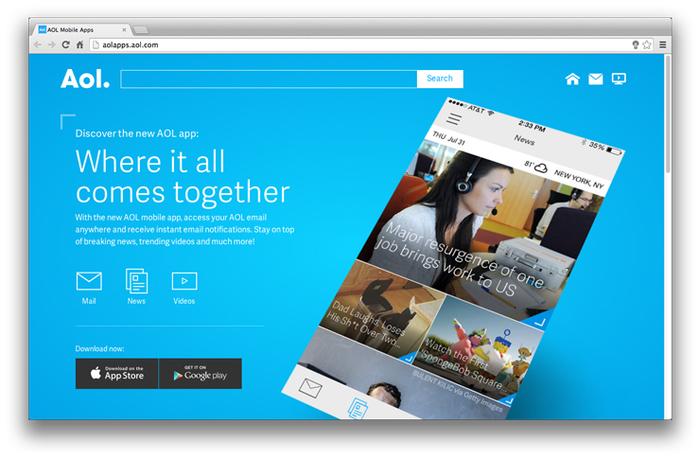 Aol website and app 1