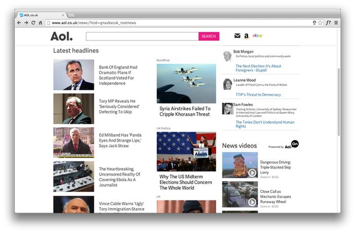 Aol website and app 6