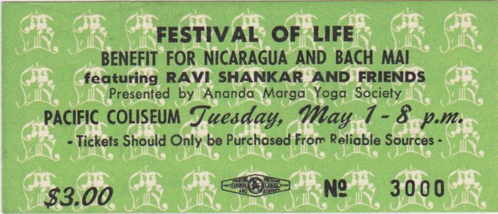 Tuesday: Festival Of Life feat. Ravi Shankar and friends (1973)