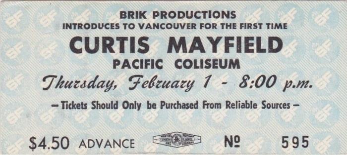 Thursday: Curtis Mayfield (1973)