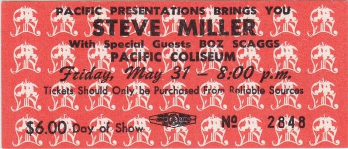 Friday: Steve Miller Band (1974)