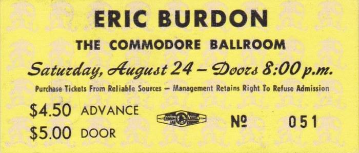 Saturday: Eric Burdon (1975)