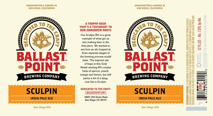 Ballast Point Sculpin 1