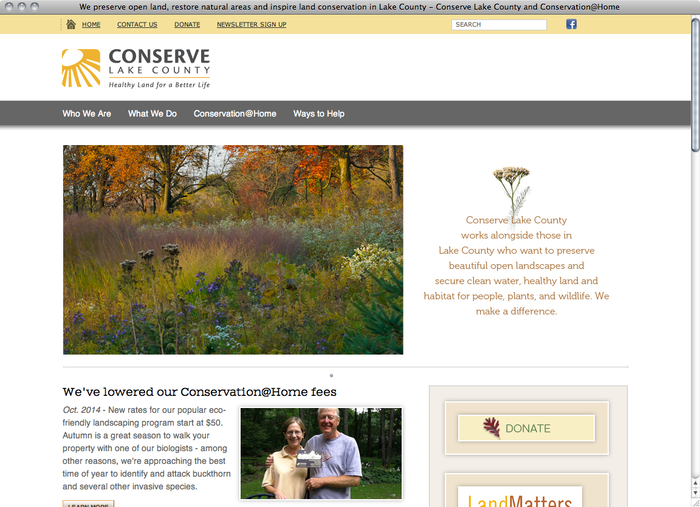 Conserve Lake County website 1