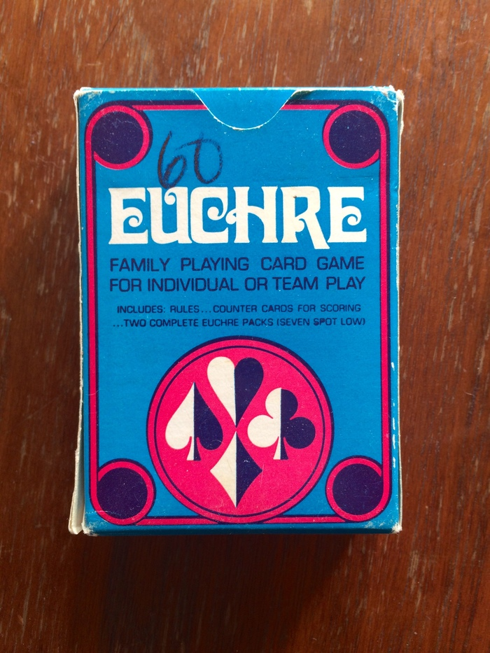 EUCHRE card game packaging