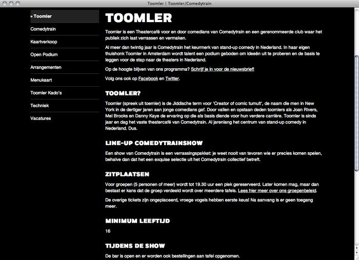 Toomler website 3