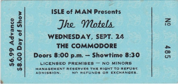 The Commodore tickets 1
