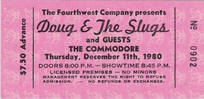 The Commodore tickets 2