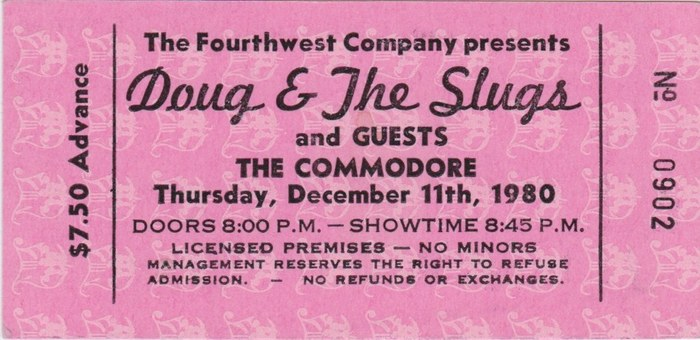 The Commodore tickets 2