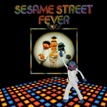 <cite>Sesame Street Fever</cite> album art