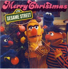 <cite>Merry Christmas from Sesame Street</cite> album art