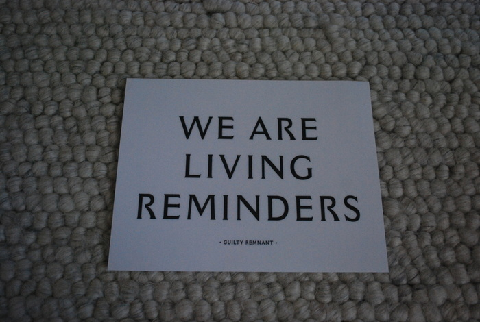 The Leftovers: Guilty Remnant posters and messages 1