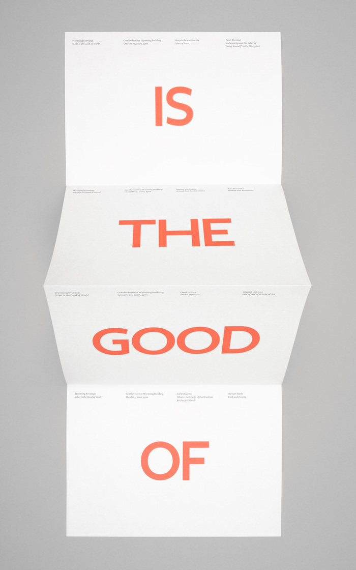What is the Good of Work? 5