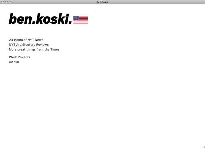 Ben Koski website 1