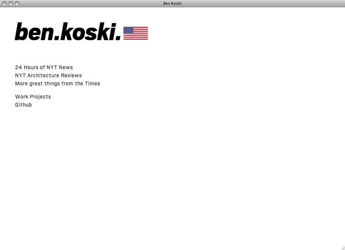 Ben Koski website 1