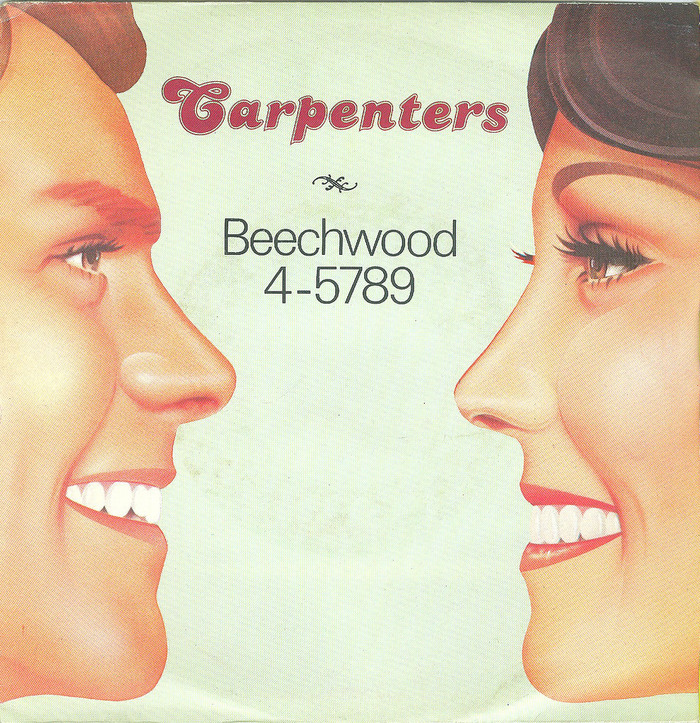 """The Carpenters – """"Beechwood 4-5789"""" single cover"""